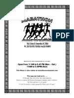 2017 Marathon Menu 2016