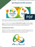 """Vista previa de """"Lo nuevo de los Juegos Olímpicos Rio 2016- mascotas e instalaciones"""""""