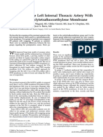 Wrapping of the Left Internal Thoracic Artery With an Expanded Polytetrafluoroethylene Membrane