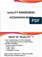 4. Quality Awareness