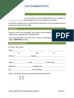 Patient Complaint Form