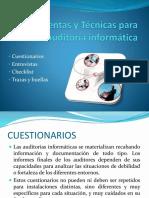 herramientas y técnicas para la auditora informática