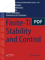 Finite Time Stability and Control