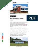 Solar Istallation for Schools