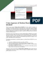Cómo ingresar al Modem Huawei HG8245.docx