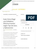 Guía_ Cómo Elegir Una Soldadora Eléctrica Inverter Según Tipo de Usos y Aplicaciones _ Blog de Ventageneradores