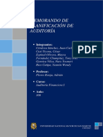 Memorando de Planificación de Auditoria