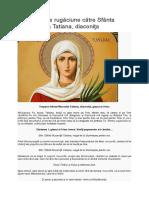 Canon de rugăciune către Sfânta Muceniţă Tatiana