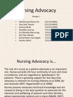 Nursing Advocacy PPT Case Study