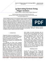 Accessing Operating System using Finger Gesture