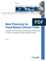 Best Practice Food-based Clinical Trials - Canada Health Ministry