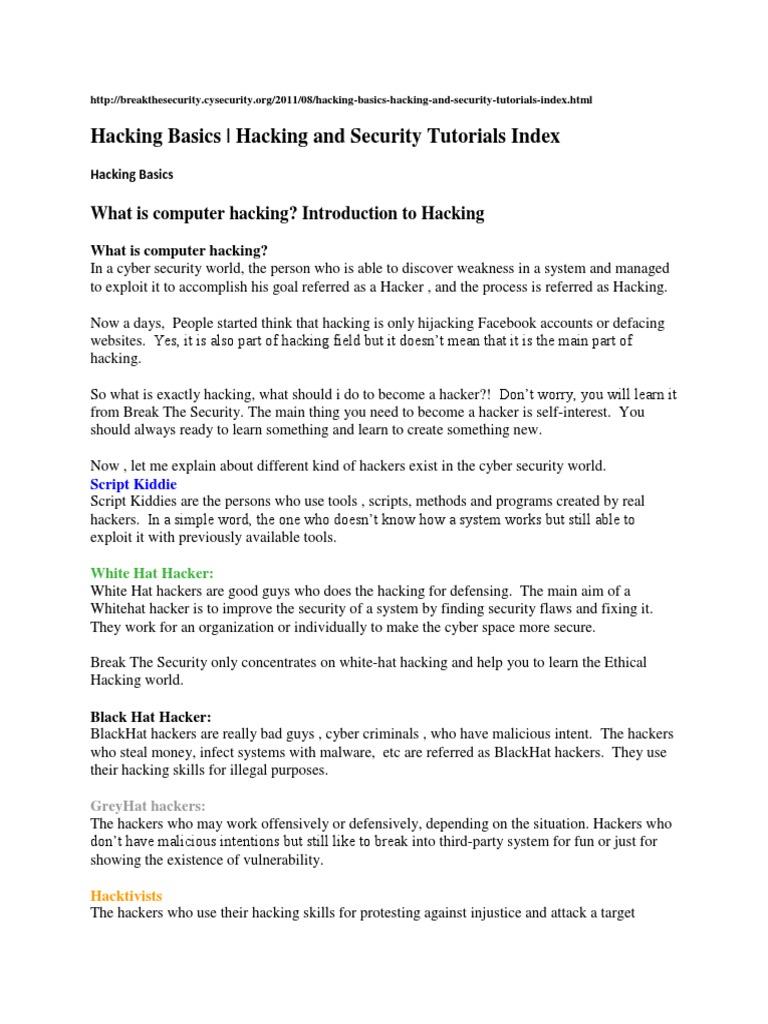 Hacking Basics   Computer Virus   Http Cookie