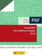 Perfiles Oferta Empleo 2016
