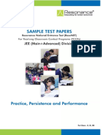 Reso NET 2017 Sample Paper Jee Main Advanced