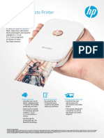 HP Sprocket Photo Printer Datasheet