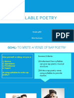 syllable poetry
