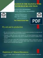 Presentation on fly-ash paver block