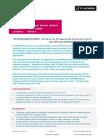 JDCSA01 V1.1 - Customer Service Advisor - Welsh