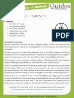 Quidos Technical Bulletin - 31/07/2017