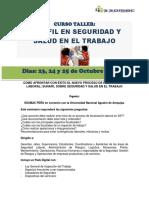 Curso Taller Sunafil en Seguridad y Salud en El Trabajo 23 de Octubre