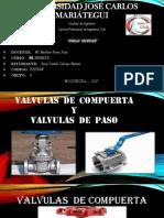 Valvula de Compuerta y Valvula de Paso