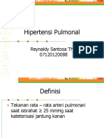 PRESENTASI RADIOLOGI - Hipertensi Pulmonal