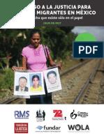 El acceso a la justicia para personas migrantes en México - WOLA