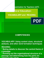 3 Vocabulary and Reading Reading