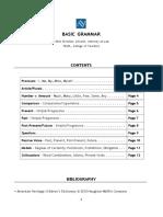 Basic Grammar Handout (Updated 1.2017)