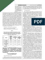 Resolución Ministerial que aprueba TdR para DIA en el sector transportes Perú