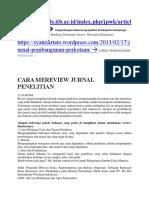 Contoh Critical Review Jurnal