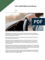 Sering Menyetir Mobil Bikin Kecerdasan Berkurang
