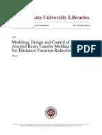 Modeling, Design and Control of VARTM