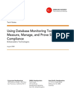 Using Database Monitoring Tools to Measure Manage and Prove Sla Compliance