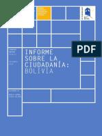 Informe Sobre La Ciudadanía Bolivia