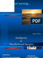 Analgesics in Oral and Maxillofacial Surgery