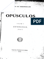 Opúsculos.vol. v. Ethnology (Part I). Lisbon, National Press, 1938