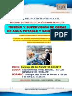 Brochure Diploma en Diseño y Supervisión de Obras de Agua Potable y Saneamiento