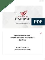 Direito Constitucional - Direitos e Deveres Individuais e Coletivos
