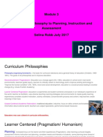 module 3 connecting philosophy to planning instruction and assessment