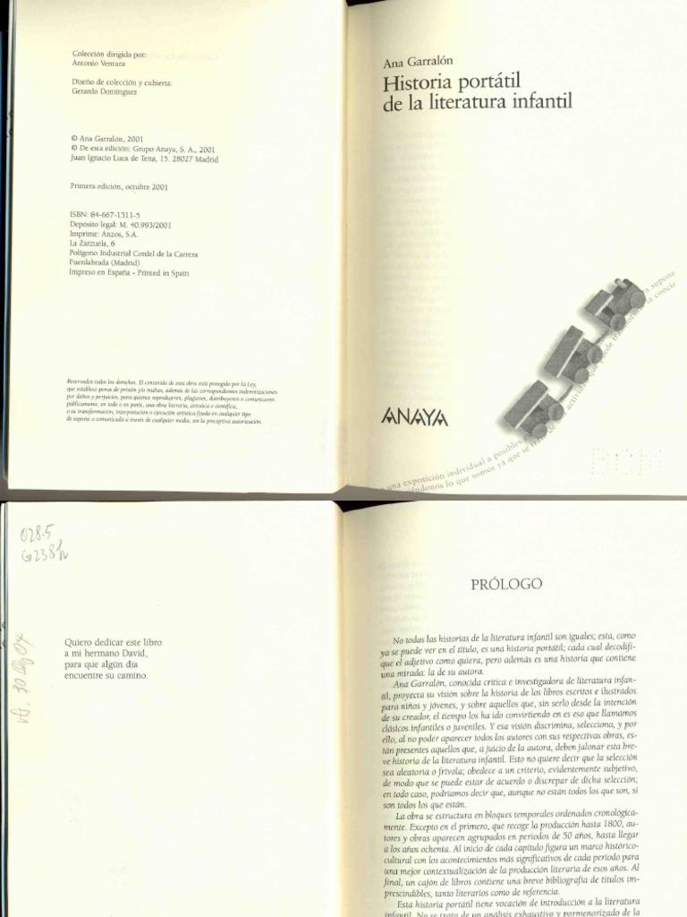 3320014186666 Garralon Historia Portatil De La Literatura Infantil