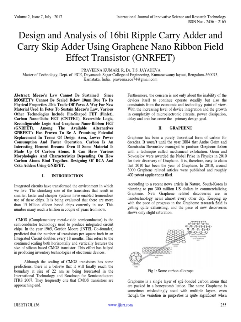 Design and Analysis of 16bit Ripple Carry Adder and Carry Skip Adder ...