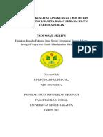 Identifikasi Kualitas Lingkungan Fisik Hutan Kota Srengseng Sebagai Ruang Terbuka Publik