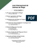 Curso Internacional de Sistemas de Riego Vol1