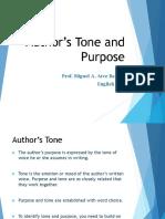 authors purpose and tone