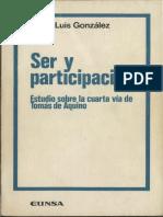 Ser y Participacion. Estudio Cuarta via Aquino