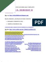 Richard D. Deboest, II, Fraud
