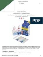 Phosphates in Freshwater Aquariums