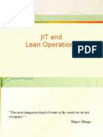 JIT and Lean Manufacturing