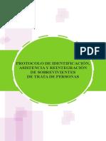 Protocolo de Identificacin Asistencia y Reintegracin de Sobrevivientes de Trata de Personas